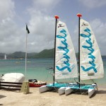 Sandals Catamarans on the Beach
