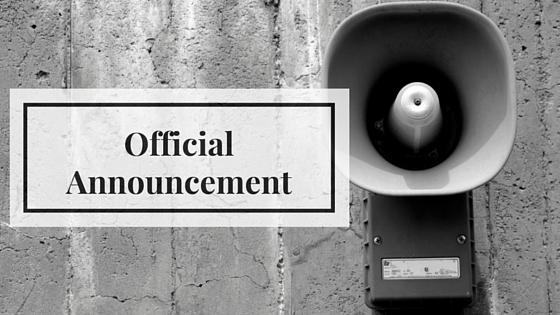 Blog Header Announcement